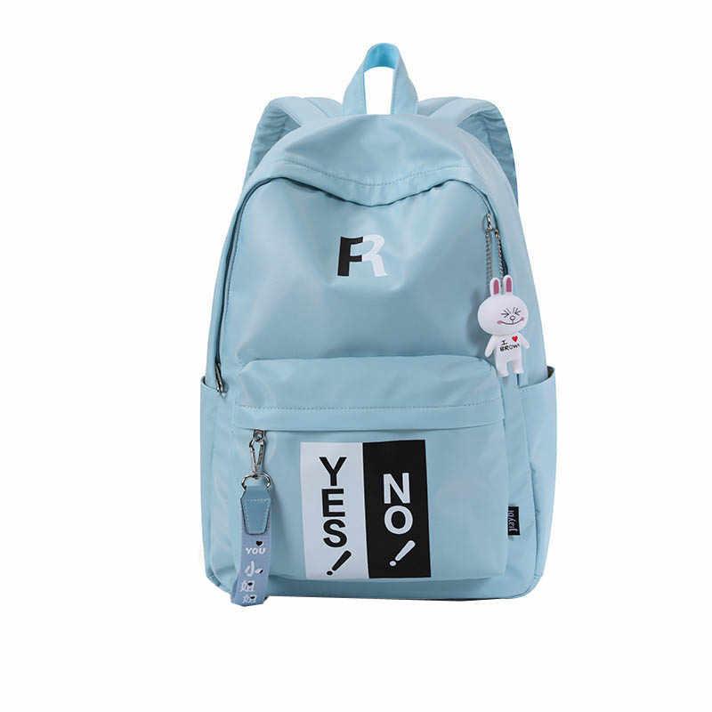 المرأة حقيبة ظهر مدرسية للمراهقين كلية النايلون المضاد للماء للسفر حقيبة 14 بوصة محمول الظهر حزم Bolsas Mochila