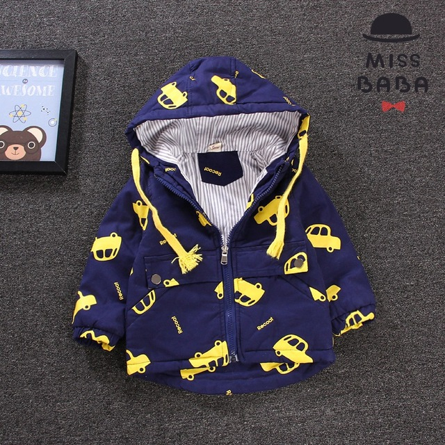 Daily specials boy quilted coat in autumn  winter coat during spring and autumn outfit baby baby dust coat cotton-padded clothes