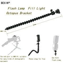 Flexible arm Bracket Bendable Flash Light Stand dslr camera Flash Bracket adapter mount hot shoe flash Holder for Flash LED Ligh
