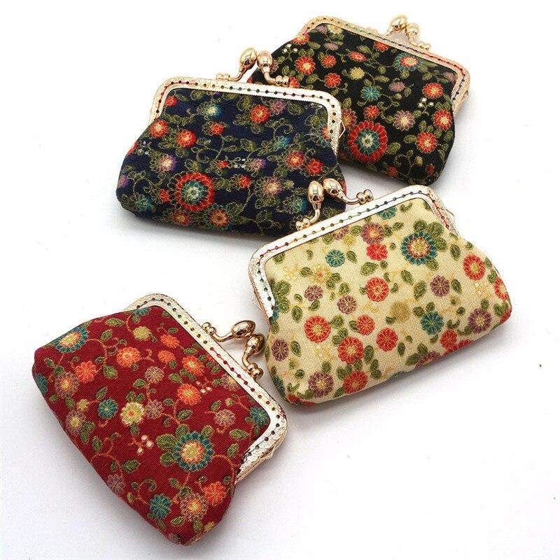 2018 Maison Fabre Fashion Women Lady Retro Vintage Flower Small Wallet Hasp Purse Clutch Bag Multicolor Cotton Fabirc