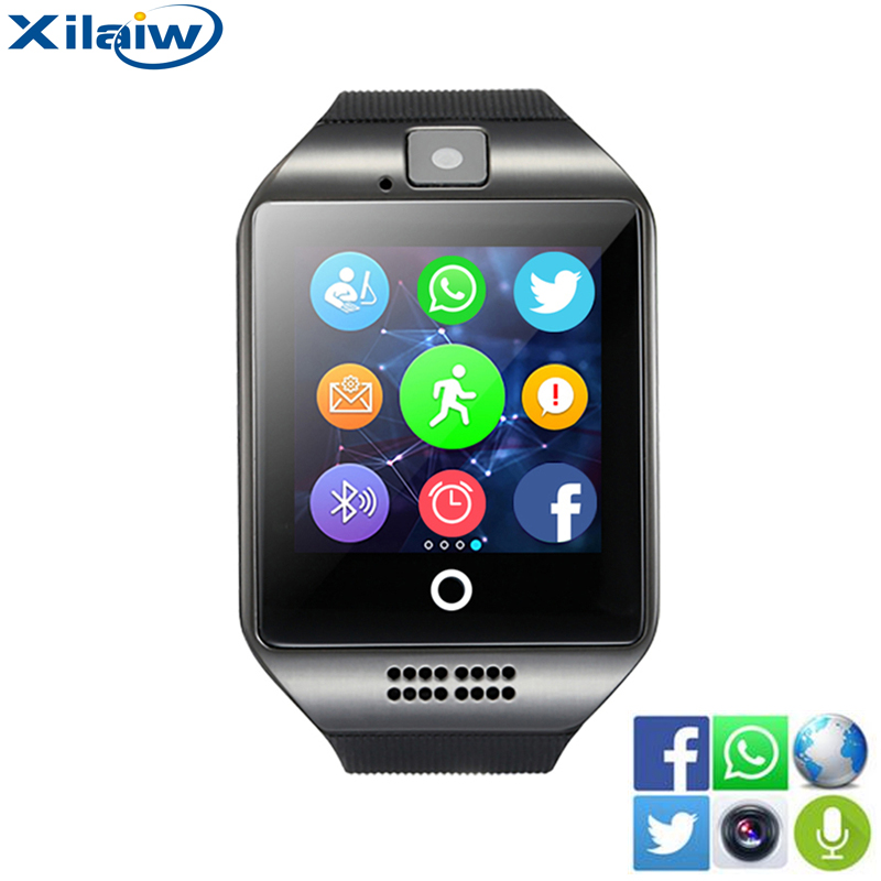 Xilaiw Bluetooth Smart Watch Relogio Android Smartwatch Phone Call SIM TF Camera for IOS iPhone Samsung HUAWEI VS A1 Q18 DZ09