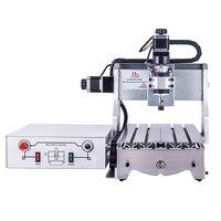 300 W DC power spindel motor cnc stecher CNC 3020 T D300 holzbearbeitung miling maschine-in Holzfräsemaschinen aus Werkzeug bei