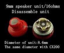 Ear Headphones 9mm speaker unit 16ohms(Gift: 1 pair of earphone shell) 1pair=2pcs