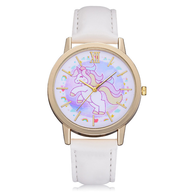 Lovely Children Watches Women's Girls Fashion Cute Cartoon Horse Wrist Watch Kid