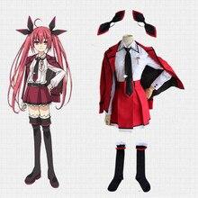 Anime fecha a live kotori itsuka cos traje del partido de halloween cosplay mujeres school dress 8 unids conjunto completo fancy dress trajes