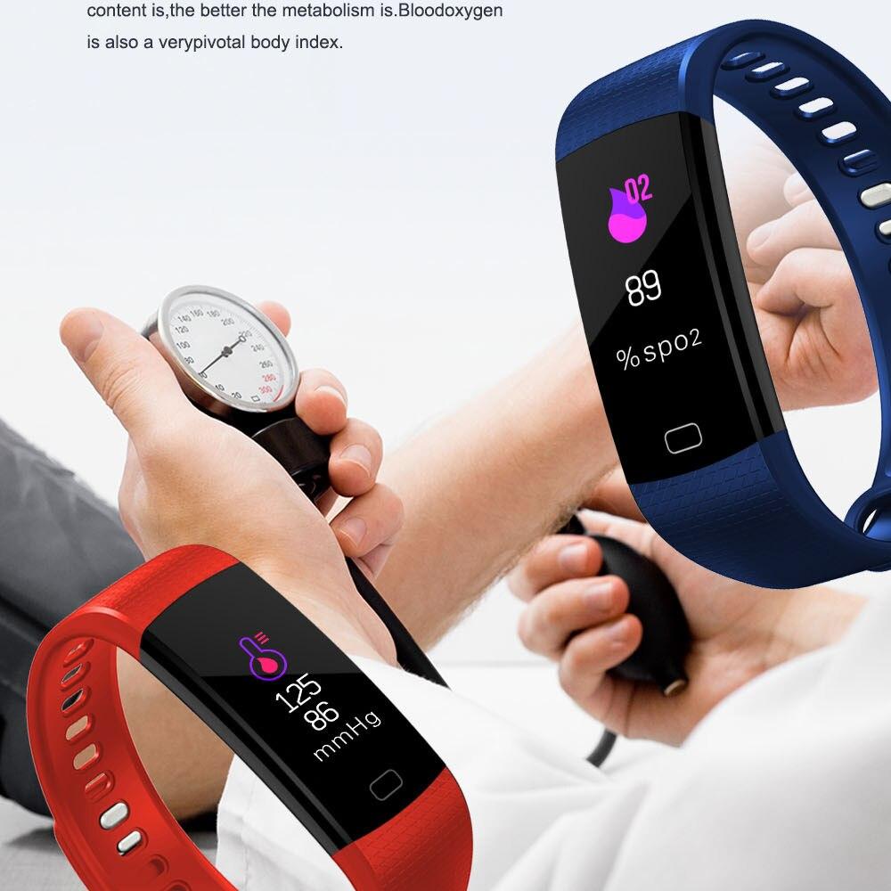 Y5 Smart Wristband Heart Rate Blood Pressure Monitor Tracker Fitness Tracker Smart Bracelet Waterproof Smart Watch Pedometer Pakistan