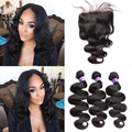 5x5 Lace Closure With Bunldes 8A Malaysian Virgin Hair Body Wave Curly Human Hair Weft With Closure Sunny Queen Hair Products