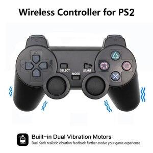 Image 2 - Para ps2 controlador sem fio gamepad manette para playstation 2 controle mando sem fio joystick para ps2 console acessório