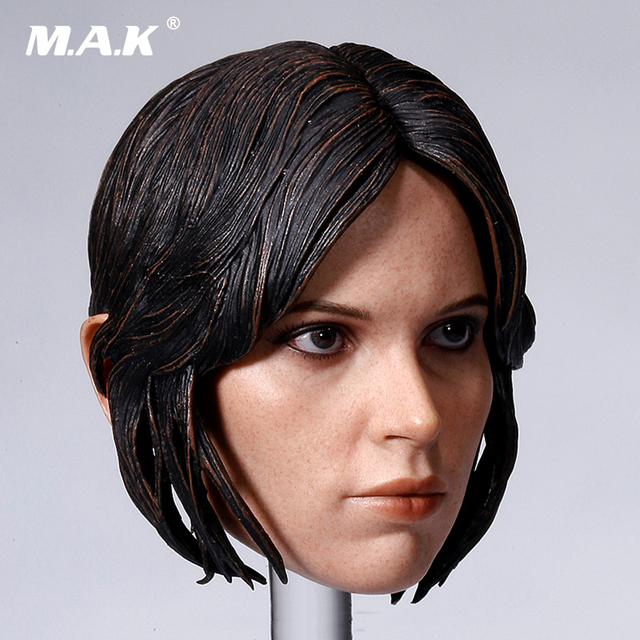 1/6 Scale Female Head Sculpt Accessory Rogue One: A Star Wars Story Jyn Erso Felicity Jones Head Carving Model Toys