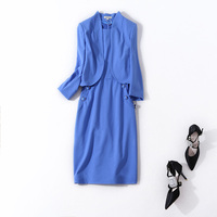High Quality Women Formal Elegant Dress Sleeveless Sheath Work Wear Dresses New 2017 Autumn Winter With