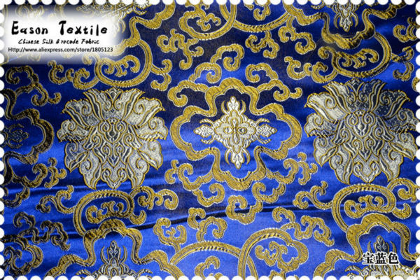 Sapphire Blue Background With Gold Flower AeProductgetSubject