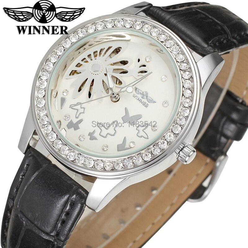 Winner Watch Fashion Women Watches Top Quality Lady Watch Factory Shop Free Shipping WRL8009M3S4