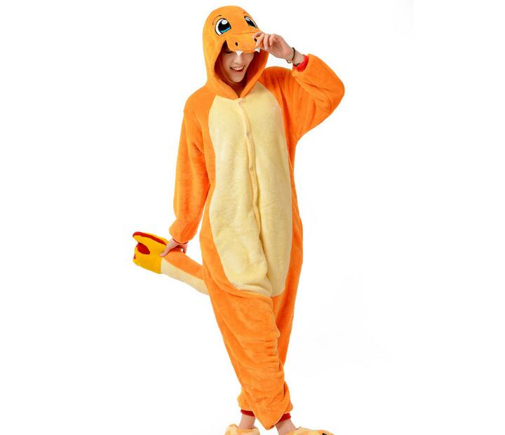 Pop Anime Pokemon Charizard Jumpsuit Pajamas Pyjamas Costume
