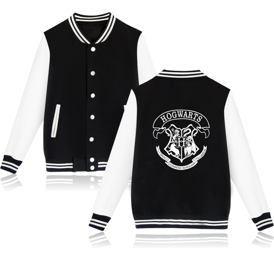 HOGWARTS Baseball Jacket Men/women Uniform Coat Winter Fashion Hoodies Sweatshirt Warm Hip Hop College Women Jackets Clothes
