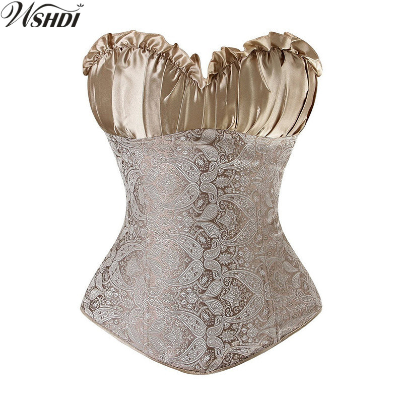 Women Waist Trainer Push up Overbust Corset And Bustier Gothic Cincher Slimming Steampunk Top Body Shaper