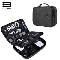 BAGSMART Electronics Organizer Travel Bag Digital Cable Bag Travel Electronic Accessory Bag Cable Charger Wire Organizer