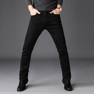 Image 5 - 2019 Zwart Grijs Merken Jeans Broek Mannen Kleding Zwarte Jeans Fashion Casual Klassieke Stijl Elastische Kracht Skinny Broek Mannelijke