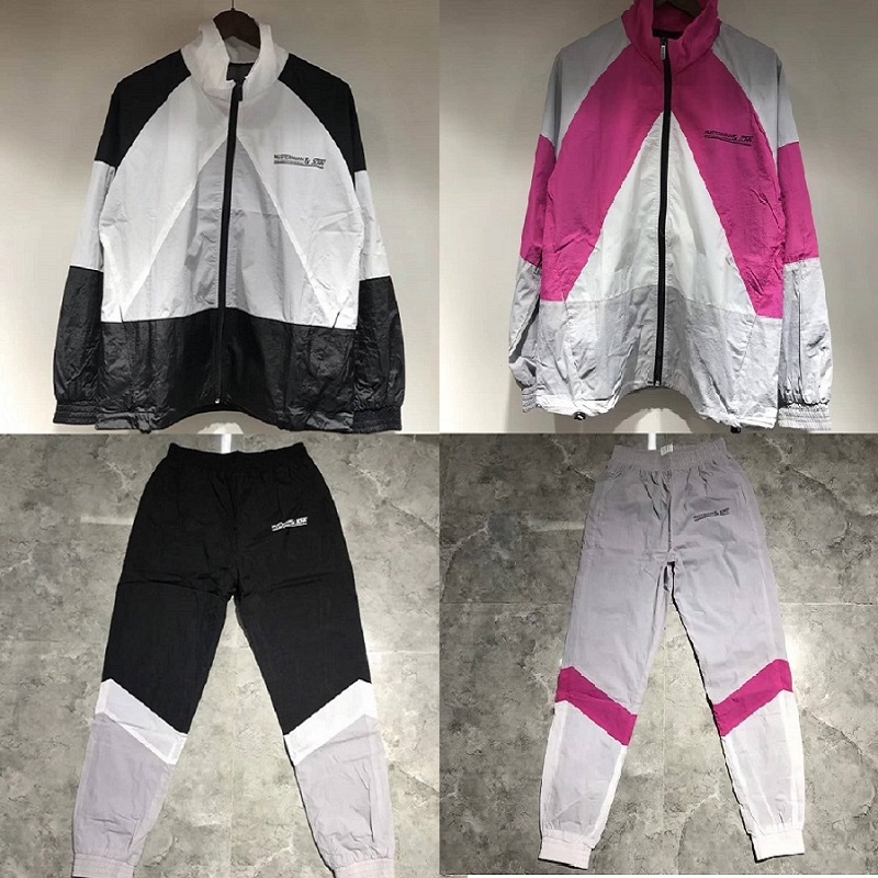 19ss Vetements Stitching Jackets Men Women Coats Sport Suit Jackets Streetwear Vetements Bomber Jackets