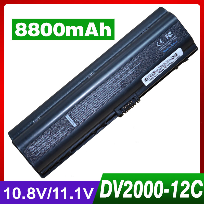 8800mAh laptop battery for HP COMPAQ EX941AA HSTNN-LB31 HSTNN-DB32 Presario A900 C700 F500 F700 G6000 G7000 dv2000 dv2100