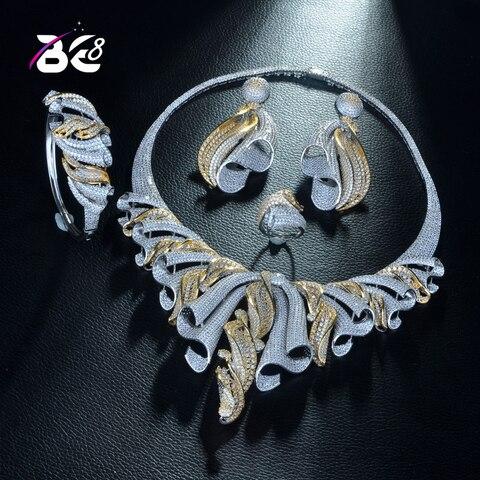Be 8 Роскошный aaa cz Африканский набор украшений для женщин