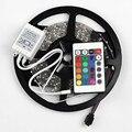 300 Remotenon водонепроницаемый светодиодные полосы ПРИВЕЛО 5 М RGB 3528 rgb светодиодные ленты + 24 ключ ИК
