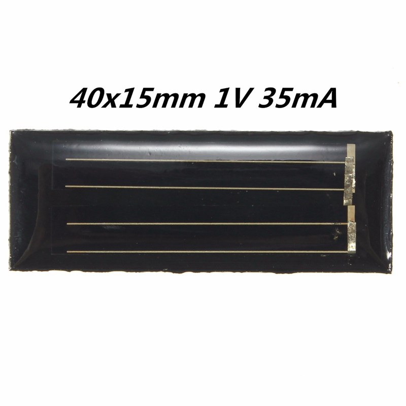 Hot Sale 1V 35mA Solar Panels Polycrystalline Silicon Mini Solar Power Cells PV DIY Battery Power Charge Module Kits 40x15mm