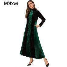 39f94f5b0c4dca Groene Abaya Afrikaanse Kimono Kaftan Moslim Vrouwen Fluwelen Patchwork  Maxi Jurk 4XL Dubai Turkse Islamitische Arabische Jurk K..
