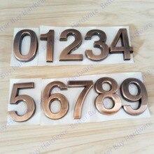 Height 50mm 0123456789 Modern Bronze Color Plastic Plaque Number House Hotel Door Address Digits Sticker Plate Sign ABS plastic