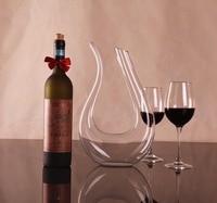 1PC New Handmade Red Wine Pourer Glass Decanter Brandy Decant Set Jug Bar Champagne Water Bottle Drinking Glasses Gift JS 1102