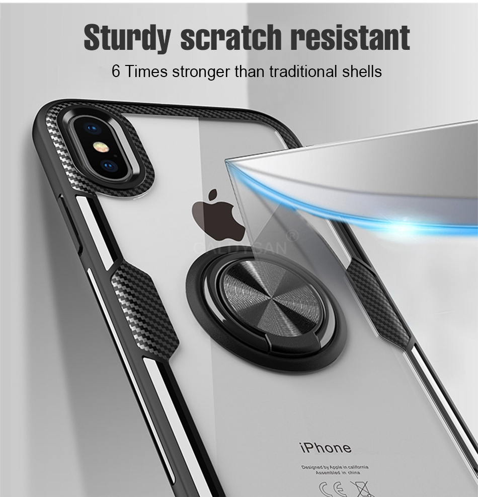 Luxury Bumper Case And Car Holder Ring Case For IPhone XS Max XR X 3