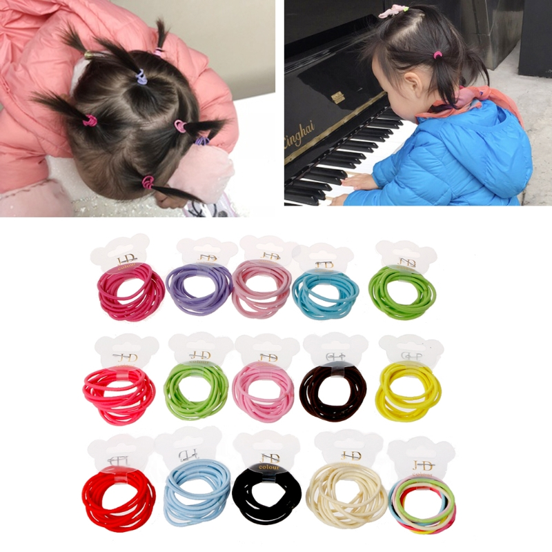 KLV 50Pcs Baby Girls Mini Ring Elastic Hair Bands Tie Gum For Hair Ponytail  Holder Best gift for girls-in Hair Accessories from Mother   Kids on ... e49fe21f31b