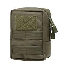 купить Outdoor 1000D Outdoor Military Tactical Waist Bag Multifunctional EDC Molle Tool Zipper Waist Pack Accessory Durable Belt Pouch по цене 241.55 рублей