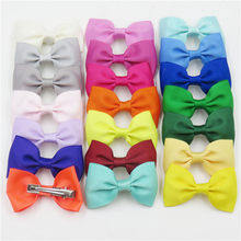 1PCS Rainbow Hair Hand Bohemian Bows Christmas Girls 64 colors Scrunchy Grosgrain Ribbon Hair Bow Kids Hair Accessories 2018(China)