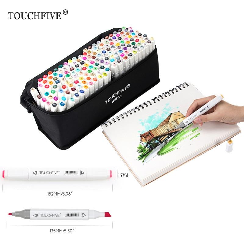 Touchfive Double Headed Painting Art Mark Pen Alcohol Paint Marker Pen Manga Cartoon Graffiti Sketch Art Markers Set Designers