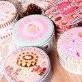 Новое поступление! 2 шт./лот  оригинальная круглая коробка для хранения тортов  коробка для печенья  конфетная коробка  металлическая жестян...