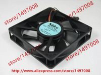 Free Shipping D12T-12PG 03B DC 12V 0.30A 3-wire 3-pin connector 100mm 120x120x25mm Server Square Cooling Fan