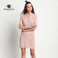 Summer Pink Dress Women Runway Casual Shirt Dress 2017