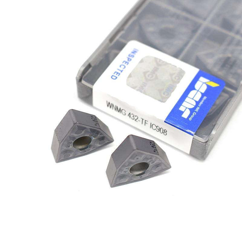 20PCS WNMG080408 TF IC908 External Turning Tools Carbide insert WNMG 080408 Lathe cutter Tool Tokarnyy turning insert 5pcs set new 3 8 tip carbide indexable turning tool set mayitr good hardness precision insert lathe tool bit