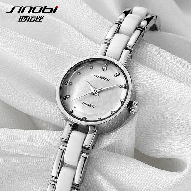 SINOBI Top Brand Women's Watches Luxury Rhinestone Bracelet Watch Women Watches