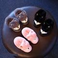 Дети Обувь Мальчики Девочки Снегоступы Австралия 2016 Новые Зимние Кожаные сапоги для Девочек Кролик Лисий Мех Ребенок Мальчиков Зимняя Обувь Розовый