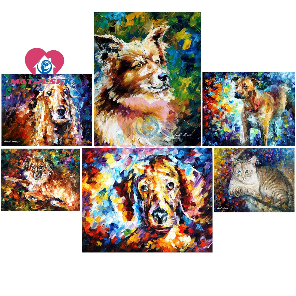 diamond embroidery dog cross-stitch pictures of rhinestones sale 5d diy diamond painting crystal cross-stitch sale kits puzzles ...
