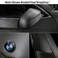 1 PC 20mx152cm GREY Chrome Brush Vinyl Car Wrap Silvery Vinyl Car Sticker FREE SHIPPING High