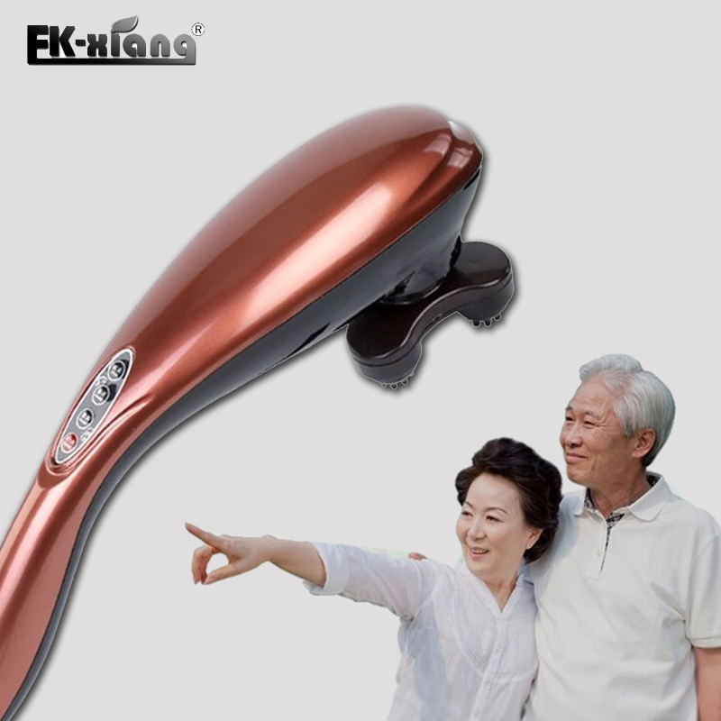 FK-Xiang Electric Massager Dolphin Head Neck Shoulder Back Massager Body Massage Relax Device Massagers pop relax electric vibrator jade massager light heating therapy natural jade stone body relax handheld massage device massager