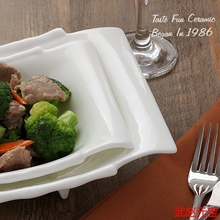 Creative bamboo ceramic bowl dish shaped Hotel soup Fresh Fruit Salad wholesale price