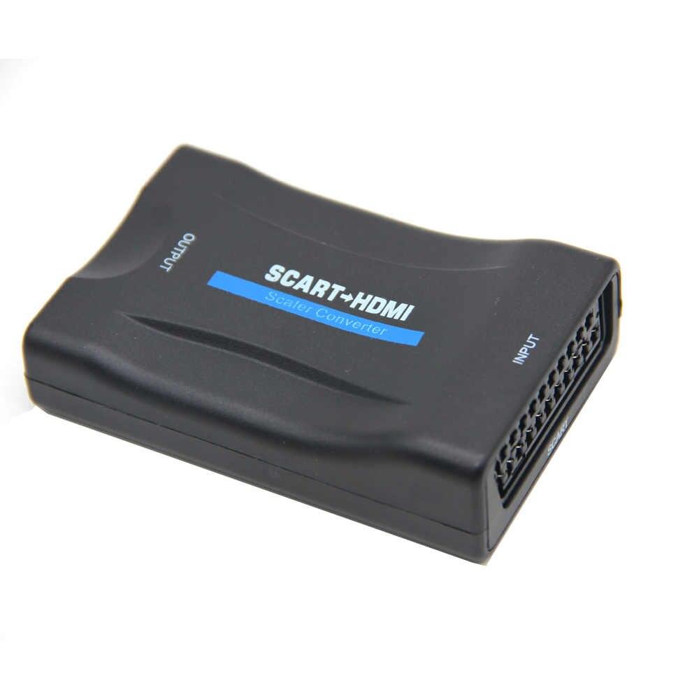 В наличии 1080P SCART в HDMI конвертер видео аудио сигнала адаптер HD высококлассный -