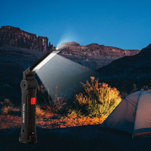 Rechargeable 5 Modes COB Flashlight Torch Portable USB LED Work Light Magnetic COB Hanging Hook Tent Lamp For Outdoor Camping