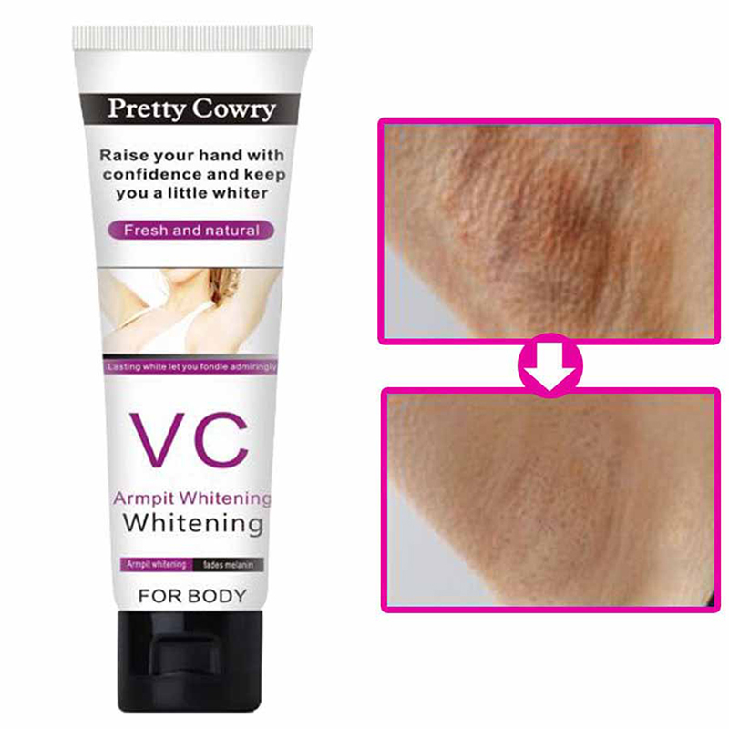 50ml Armpit Whitening Cream Between Legs Knees Private Parts Underarm Whitening Formula Armpit Whitener Beauty Body Cream