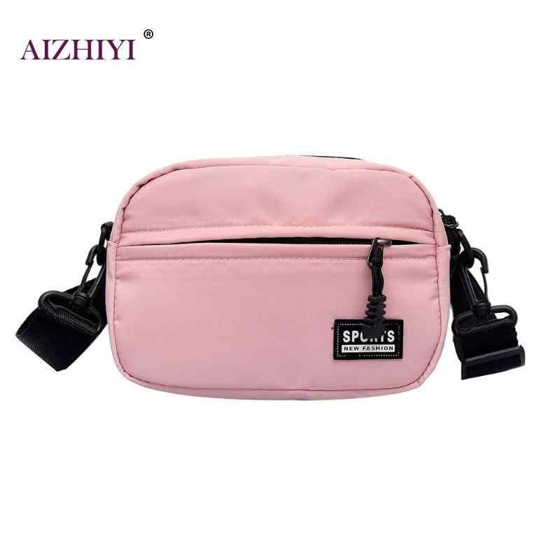 1818adde2daab Fashion Unisex Zipper Shoulder Bags Boys Girls Nylon Crossbody Bag Brand  Design Casual Messenger Handbag for