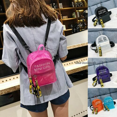 Clear Transparent Backpack Stadium Security PVC School Book Bag Security