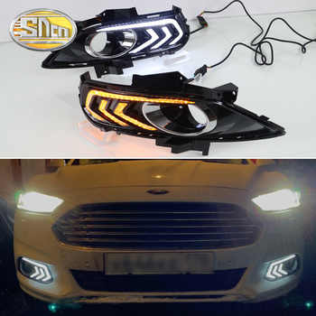 For Ford Mondeo Fusion 2013 2014 2015 2016 Yellow Turning Signal Relay Waterproof Car DRL Lamp LED Daytime Running Light SNCN - DISCOUNT ITEM  50% OFF All Category